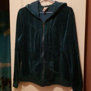 Teal Velour Jacket